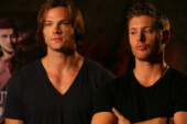 UPDATE Jared and Jensen Supernatural The Animation Presentation BTS Pics