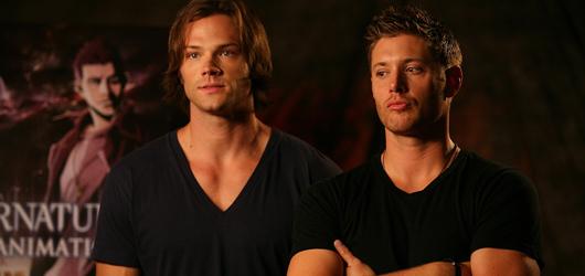 UPDATE Jared and Jensen Supernatural The Animation Presentation BTS Pics